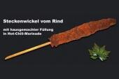 Steckenwickel vom Rind in Hot-Chili-Marinade