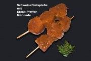 Schweinefiletspieße mit Steak-Pfeffer-Marinade